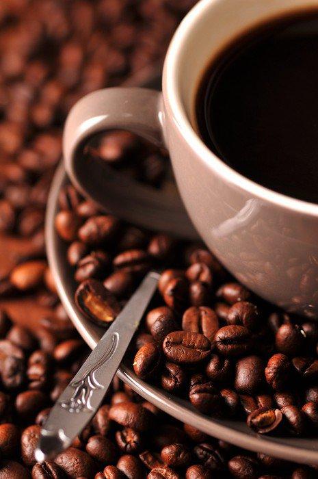 Canvas Print Czarna kawa w filiżance - Themes