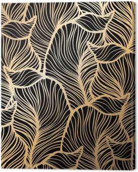 Canvas Print Damask seamless floral pattern. Royal wallpaper.