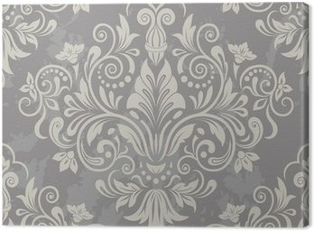 Damask seamless floral pattern Canvas Print