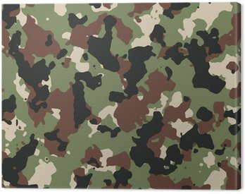 Dark woodland seamless vector camo pattern
