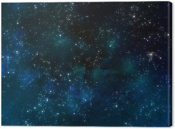 Canvas Print deep outer space or starry night sky