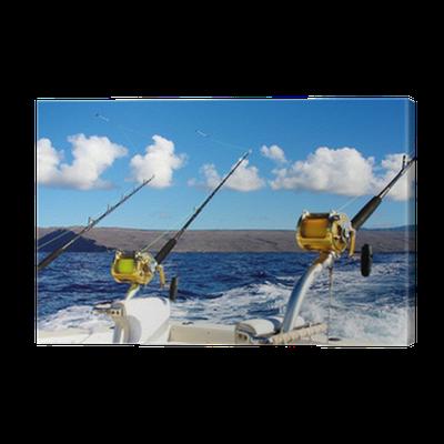 Deep sea fishing in hawaii canvas print pixers we for Deep sea fishing hawaii