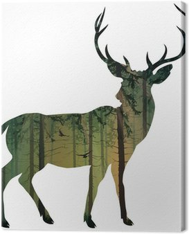Canvas Print deer