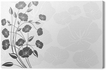 Dekorasyon çiçekler ( beyaz arka fon ) Canvas Print
