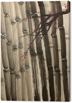 Canvas Print dense bamboo forest