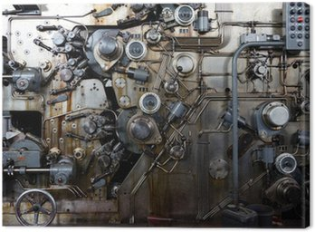 Canvas Print Detail of a rusted machine