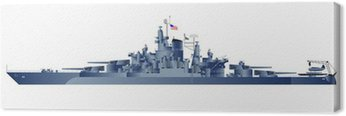 Canvas Print Detailed vector illustration of battleship Tennessy.