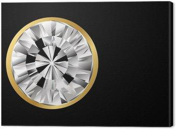 diamond jewel with gold border