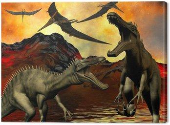 Dinosaur doomsday Canvas Print