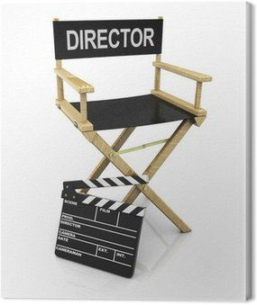 Canvas Print director chair and clapboard