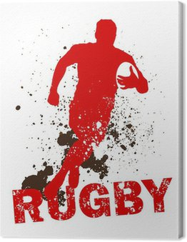 Canvas Print Dirty Rugby Player