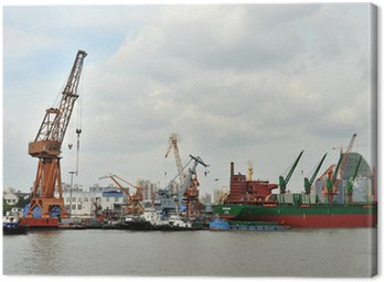 Canvas Print Docks at the Rotterdam harbor