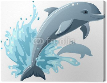 Canvas Print Dolphins