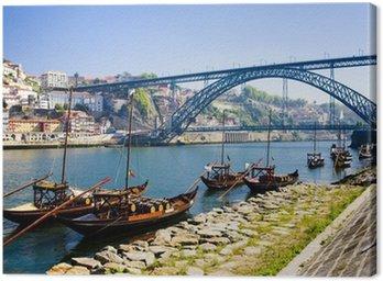 Dom Luis I Bridge, Porto, Douro Province, Portugal Canvas Print