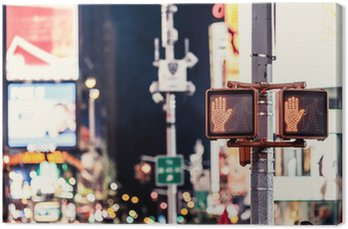 Canvas Print Don't walk New York traffic sign