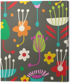 Doodle seamless floral pattern