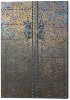 Canvas Print Door at Dar El Makhzen, Morocco