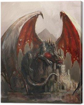 Canvas Print Dragon castle