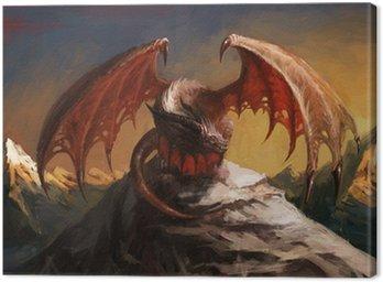 Canvas Print Dragon mountain