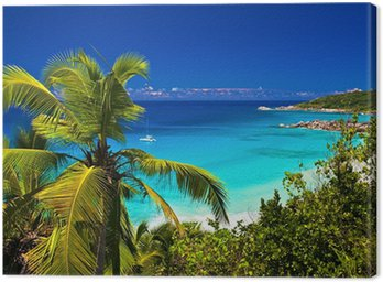 Canvas Print Dream seascape view, Seychelles, La Digue island