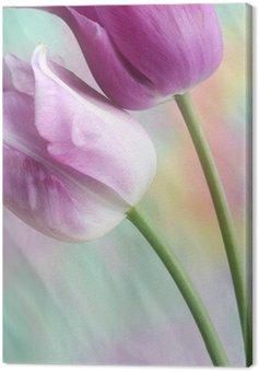 Canvas Print dreamy tulips
