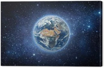 Canvas Print Earth and galaxy. Elements of this image furnished by NASA.