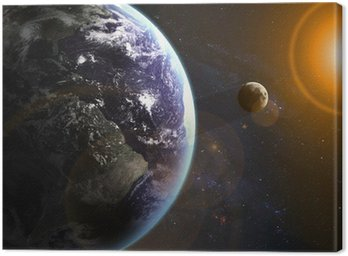 Earth in space. Elements of this image furnished by NASA
