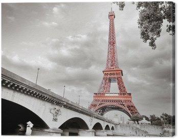 Eiffel tower monochrome selective colorization