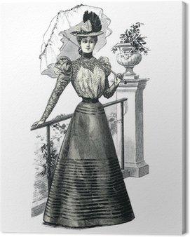 Elegant Woman with a Parasol