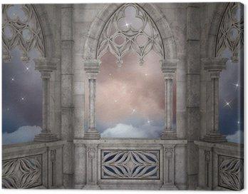 Canvas Print Elven palace background
