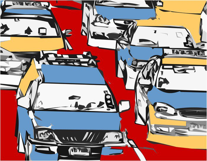 embouteillage Canvas Print - Styles