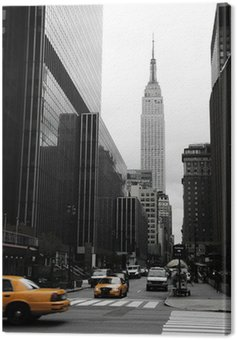Canvas Print Emipre State Building and yellow, Manhattan, New York