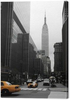 Emipre State Building and yellow, Manhattan, New York