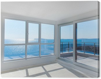 Empty room with sea view