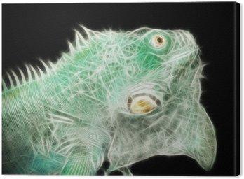Energetische Eidechse (abstrakt) Canvas Print