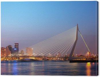 Erasmus Bridge in Rotterdam at Twilight