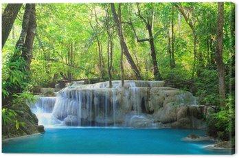 Canvas Print Erawan Waterfall, Kanchanaburi, Thailand