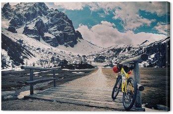 Canvas Print Escursione in montain bike
