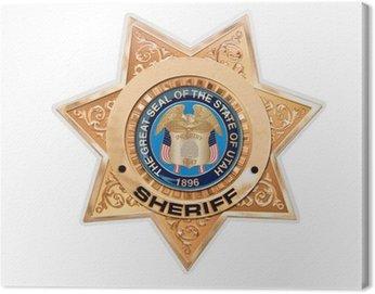 Canvas Print Etoile de shérif américain, fond blanc