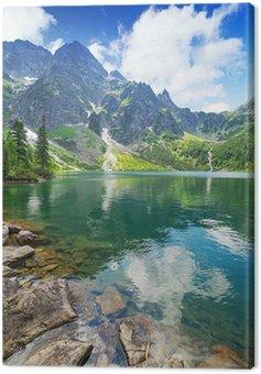 Eye of the Sea lake in Tatra mountains, Poland Canvas Print