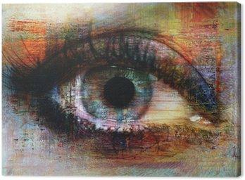 Canvas Print eye texture