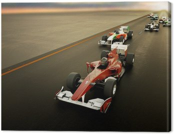 Canvas Print F1 Cars