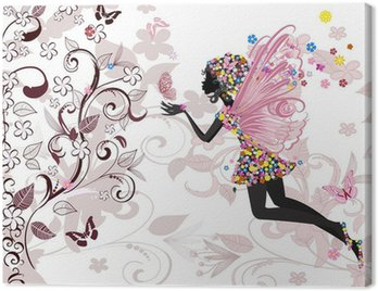 Canvas Print fairy pattern