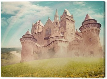 Canvas Print Fairy tale princess castle