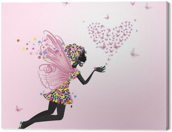 Fairy with a valentine of butterflies