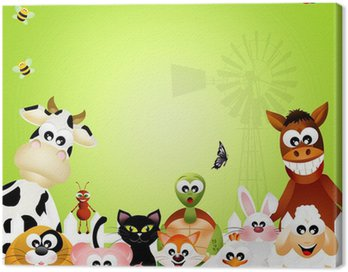 Canvas Print Farm animals