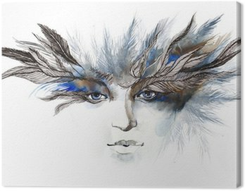 feathers around eyes (series C)