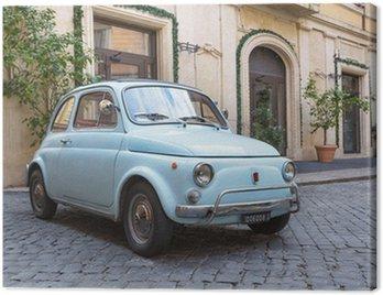 Canvas Print Fiat 500 dans les Rues de Rome
