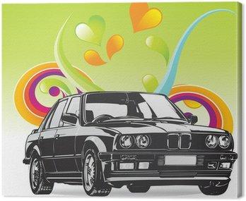 Canvas Print Fine Art BMW car
