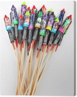Canvas Print Fireworks, rockets